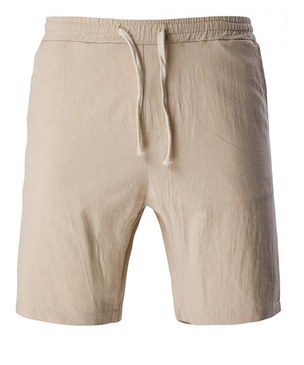 JASSYOY Casual Elastic Drawstring Shorts