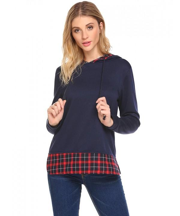 Easther Women Hoodie Sweatshirt Sleeve