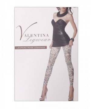 FineBrandShop Ladies Leopard Rose Leggings