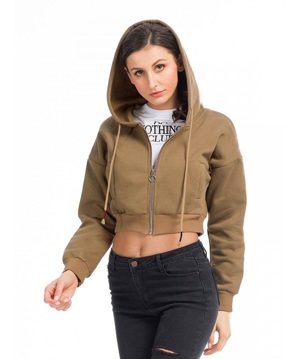 Cropped Sweatshirt Zipper Hoodie Hooded