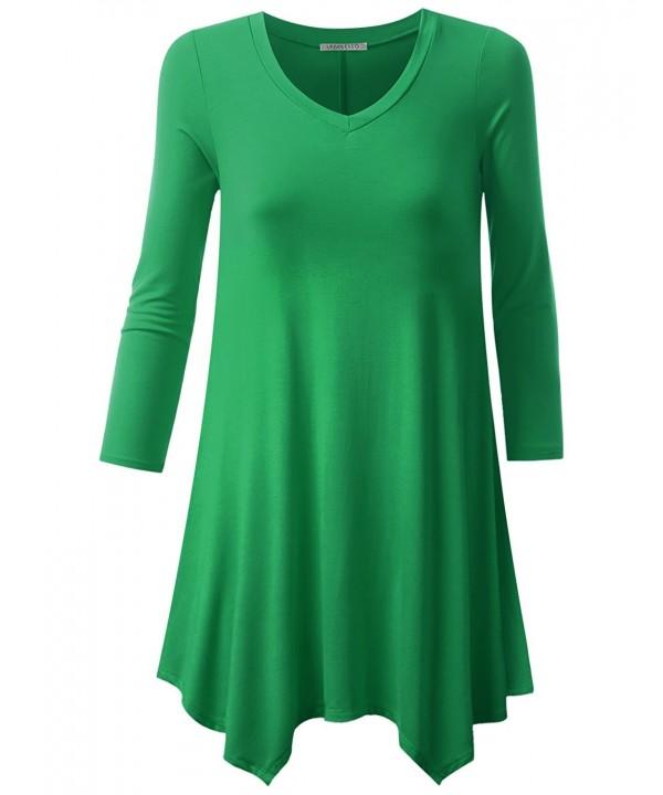 URBANCLEO Womens Sleeve V Neck T Shirt