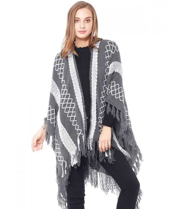 ZLYC Embroidery Knitted Blanket Cardigans