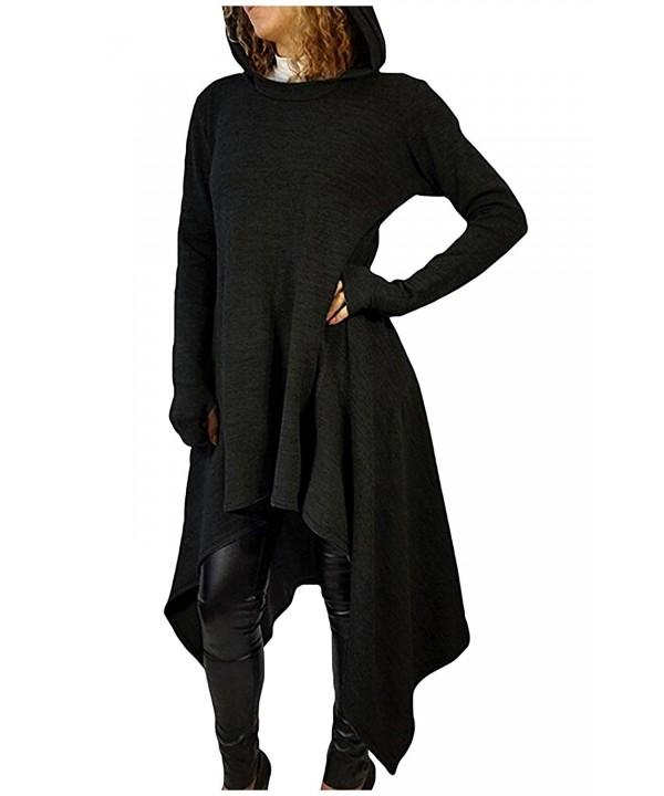 Kumer Womens Asymmetric Hoodies Sweatshirts