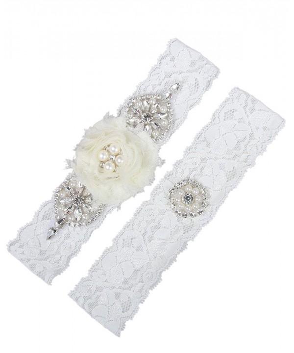 MerryJuly Wedding Rhinestones Chiffon Flowers