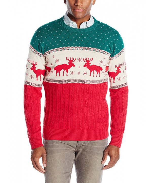 Alex Stevens Reindeer Sweater Green