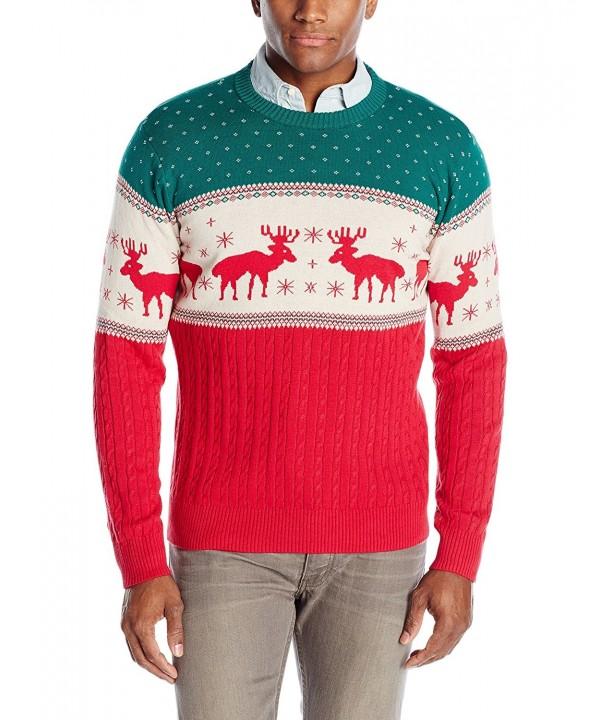 Alex Stevens Reindeer Sweater Green