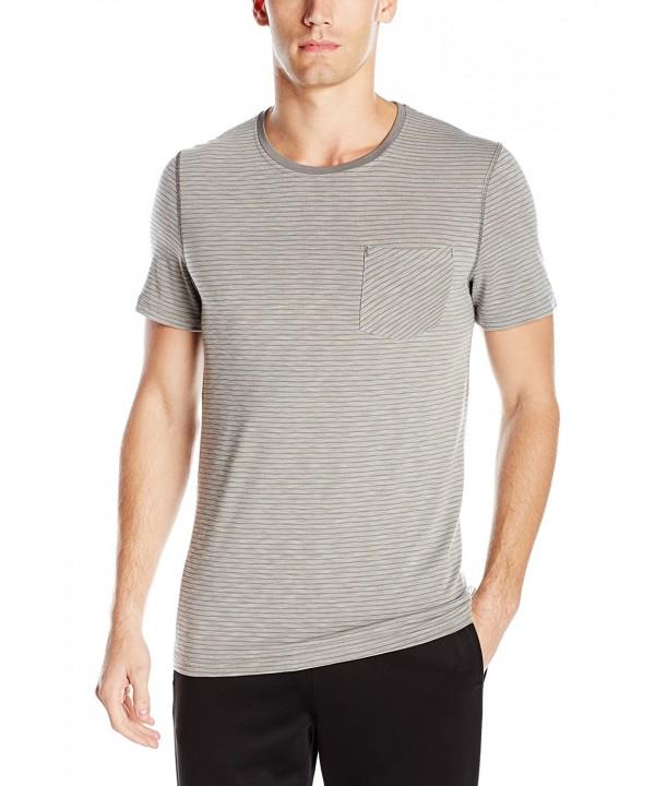 Manduka Transcend T Shirt Stripe Thunder