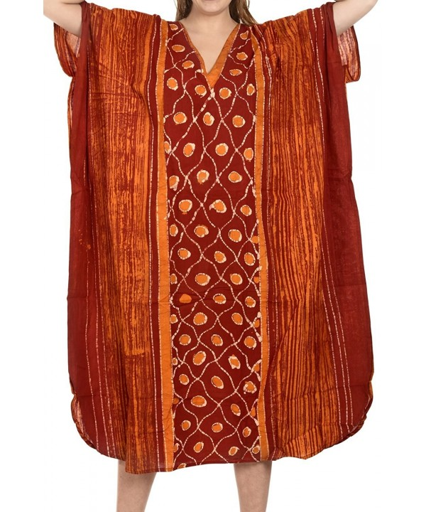 Leela Beachwear Casual Caftan Orange