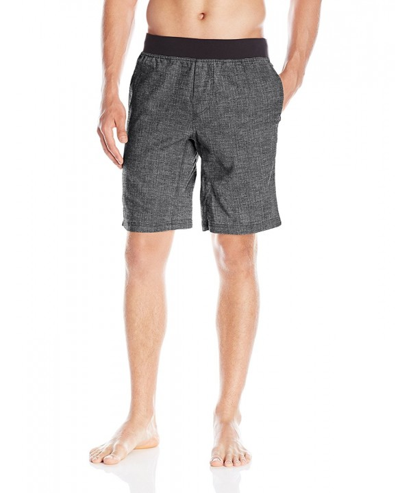 prAna Shorts Large Black Herringbone