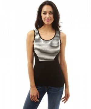 PattyBoutik Womens Striped Sleeveless Strips
