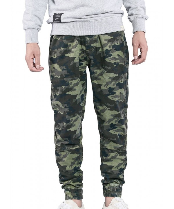 JINXUAN Running Trousers Dreawstring Camouflage1