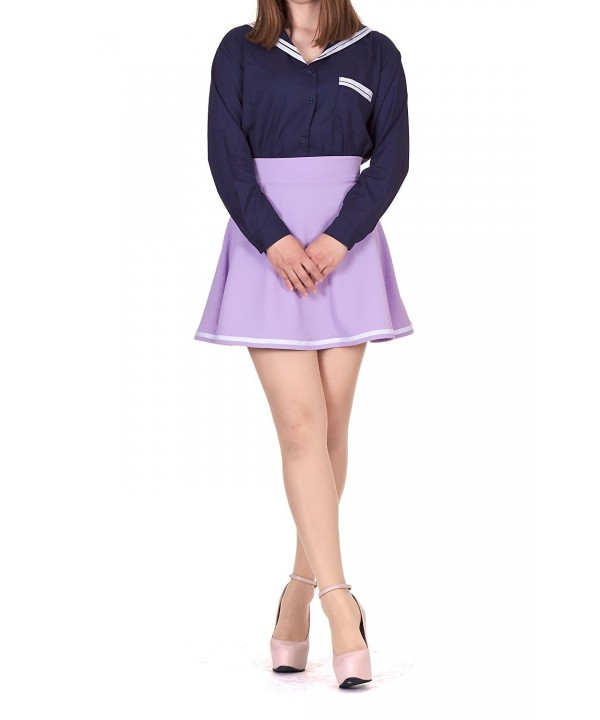 Super Stripe Flared Skater Violet