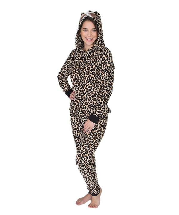 Sleep Womens Fleece Leopard Natural