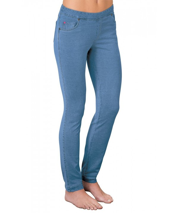 PajamaJeans Womens Skinny Stretch Bermuda