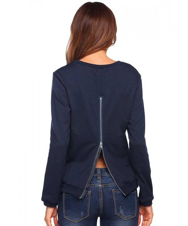 Mofavor Womens Pullover Crewneck Sweatshirt