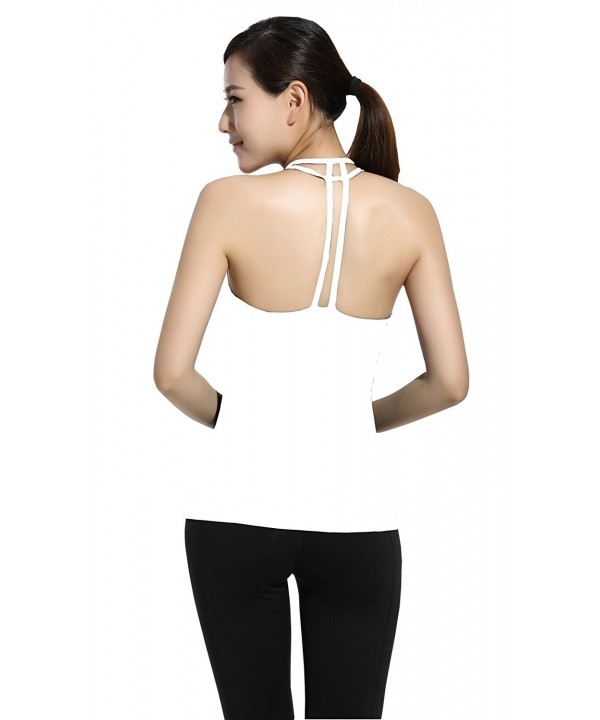 Lotsyle Workout Fitness Stretch Sleeveless