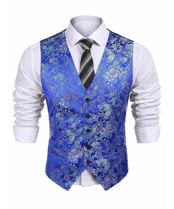 Jinidu Paisley Graphic Fashion Waistcoat