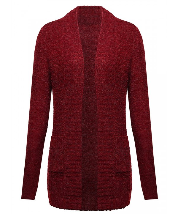 Ladies Code Boucle Cardigan Pockets
