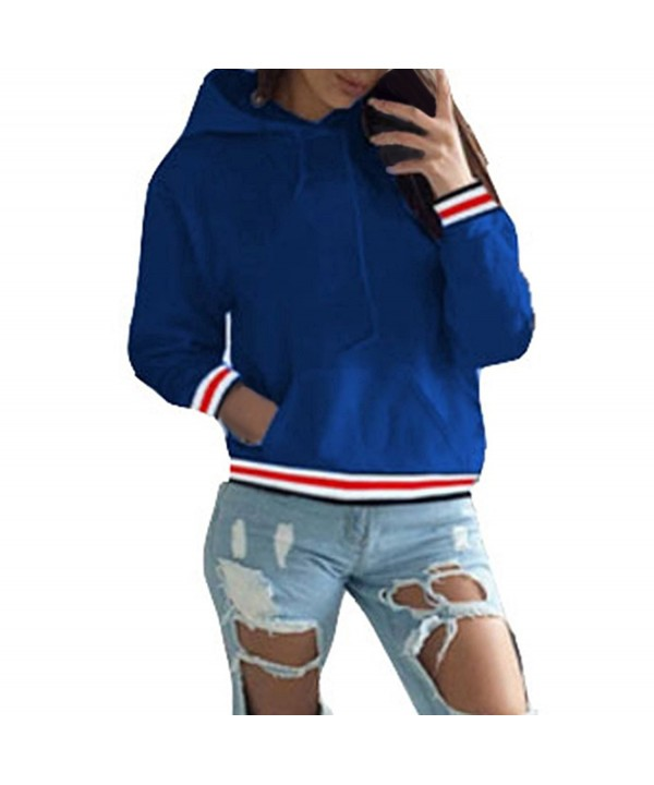 Pullover Hoodies Outerwear Striped Sweatshirt