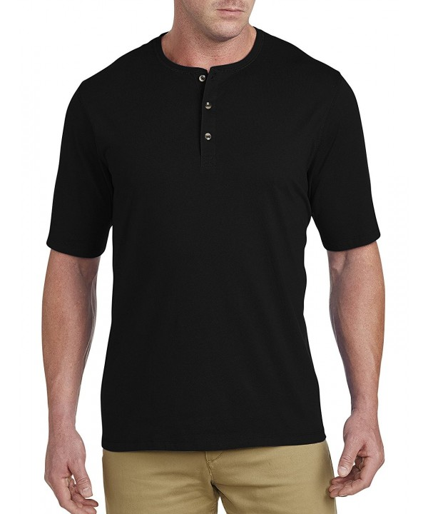 Harbor Bay Wicking Henley Black