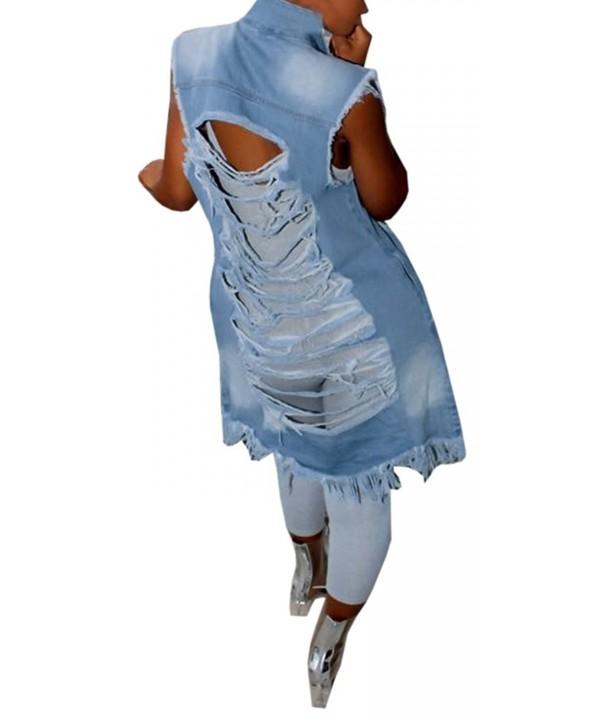 Gobought Womens Backless Sleeveless Pockets