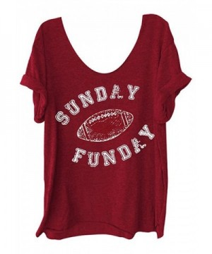 Letter Printed Shoulder Football T Shirt