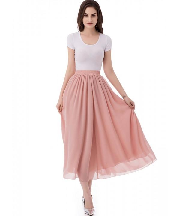 emondora Womens Chiffon Skirts Pleated