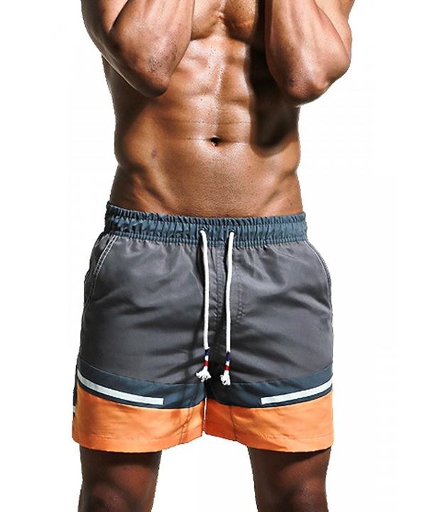 46e53d0786 Men's Shorts Swim Trunks Beach shorts with Pockets - Dark Gray ...