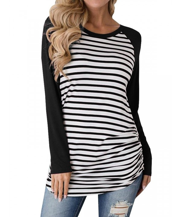 Inorin Womens Casual Cotton Striped