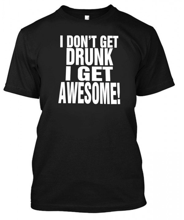 Adult Drunk Awesome Shirt Medium