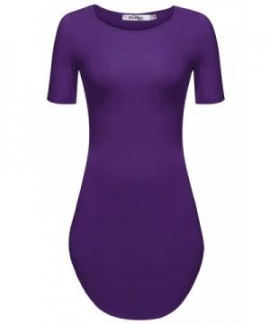 Meaneor Womens Sleeve Tshirts Purple