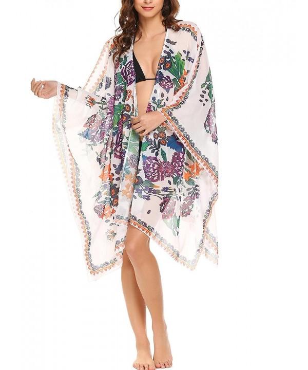 Soteer Chiffon Floral Kimono Cardigan