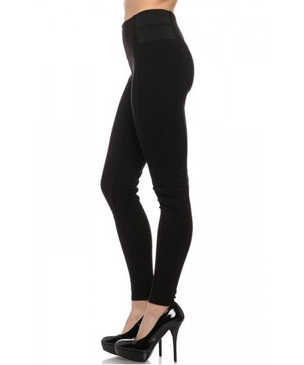 Womens Premium Leggings Elastic Details