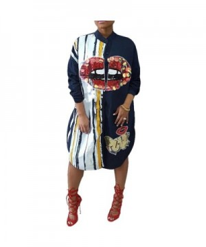 Metup Graphic Sequin Sleeve Boyfrined