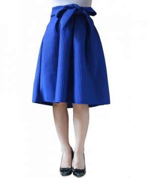 YSJ Womens Striped Pleated Skirts