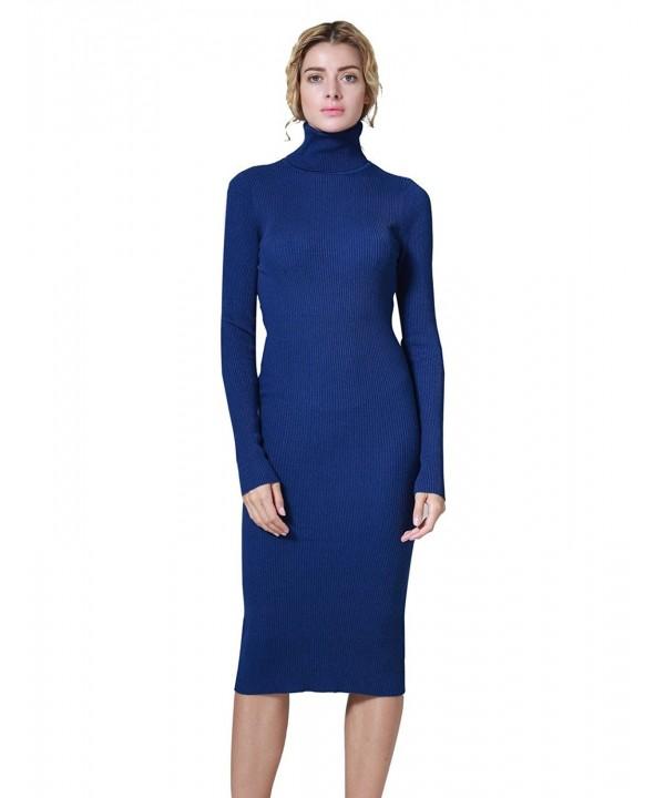 ninovino Turtleneck Bodycon Sweater Blue XL