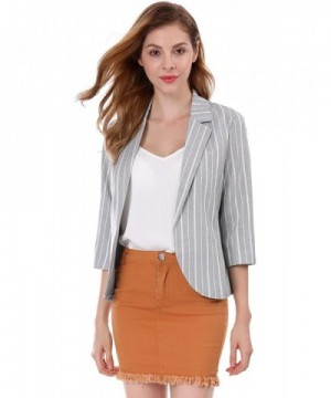 Allegra Womens Striped Sleeves Notched