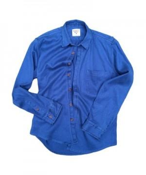 Sleeve Collared Button Blend Shirt