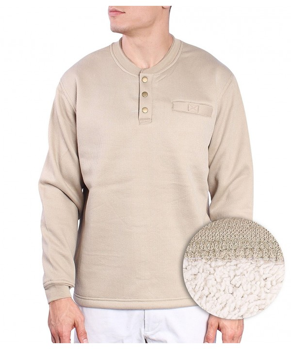 Maxxsel Sleeve Thermal Button Henley