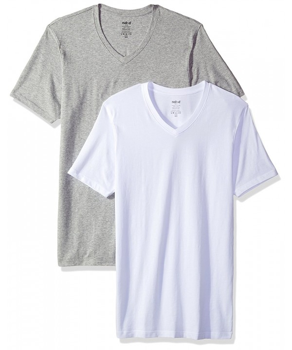 Naked Stretch Cotton T Shirt Heather