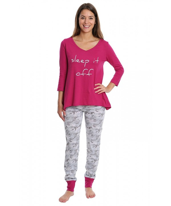 WallFlower Womens Sleepwear Sleeve Jogger