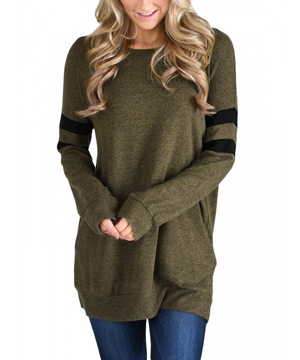 Dokotoo Pockets Striped Sweatshirt Pullover