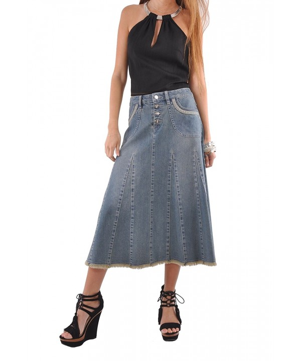 Style Lady Grace Denim Skirt Blue 36