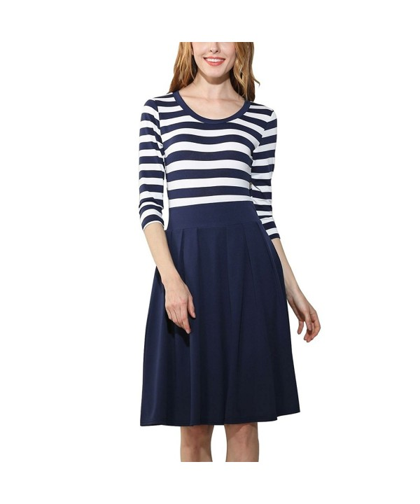 DmsBanga Women Sleeve Casual Stripe