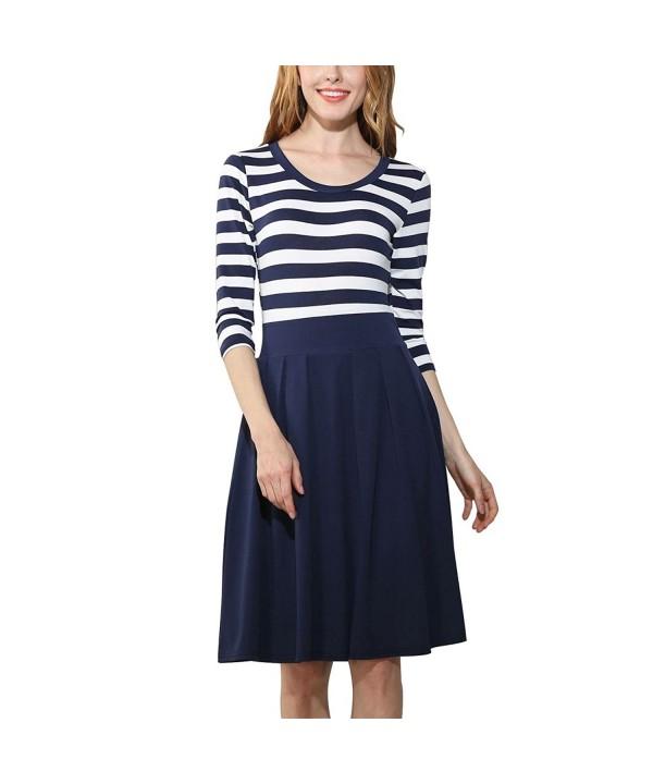 DmsBanga Women Sleeve Casual Stripe