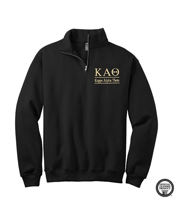 Sorority Letters Shop Pullover Black