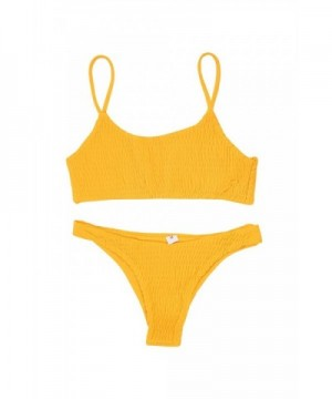 GAMISOTE Swimsuit Pleated Triangle Bottoms
