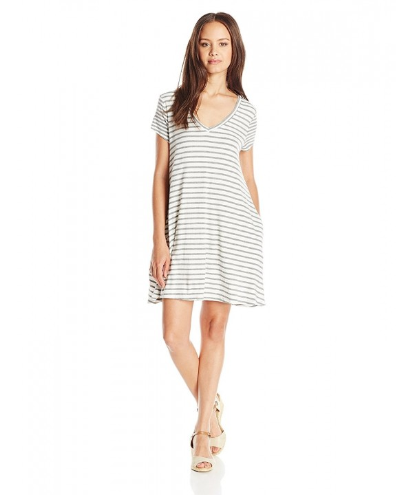 Trixxi Juniors Striped Shift Charcoal