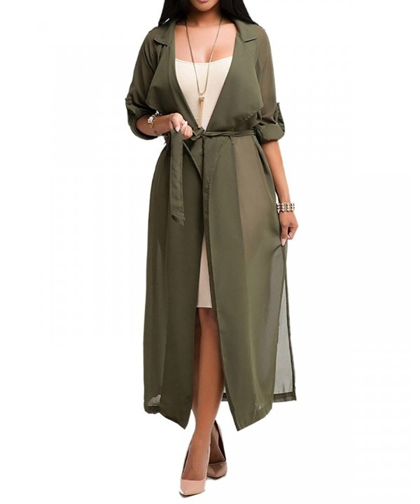 Womens Sleeve Lightweight Chiffon Cardigan