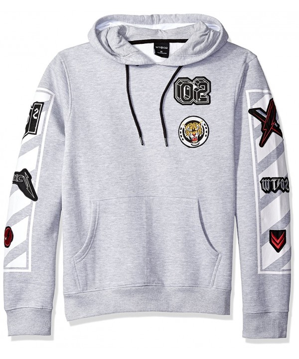 WT02 Kangaroo Sweatshirt Patches Heather